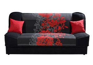 Finka / Alova čierna / kvet červený