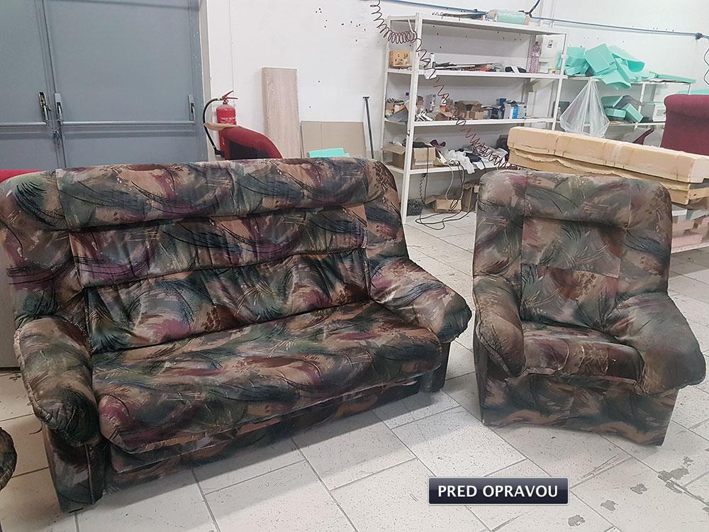 Opravy sedacích súprav a čalúnenia